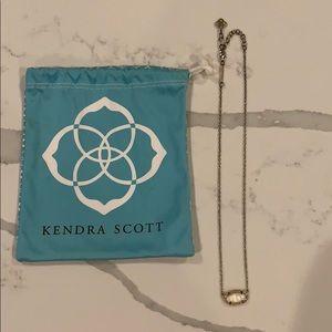 Kendra Scott Elisa Gold Pendant in White Pearl